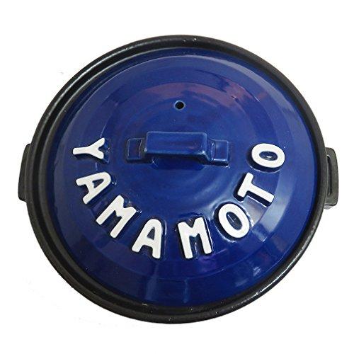 手作り工房夕立窯土鍋日本製立体アルファベット土鍋8号IH対応・直火OK青色(BLUE)