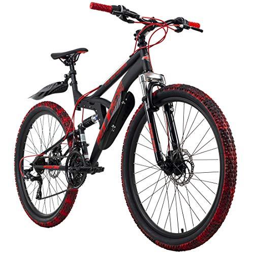 KS Cycling Mountainbike Fully 26'' Bliss Pro schwarz-rot RH 46 cm