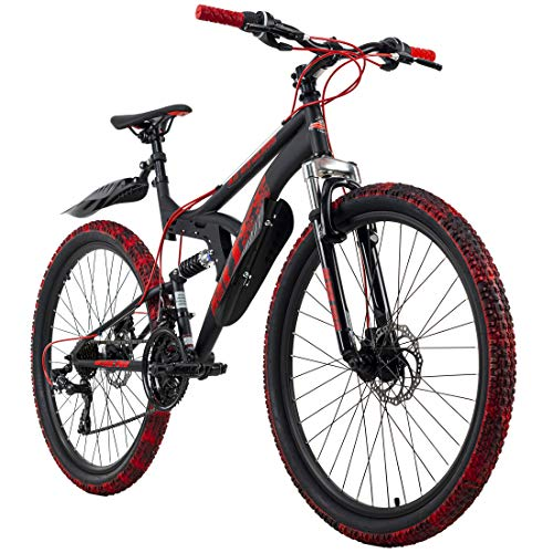 KS Cycling Mountainbike Fully 26'' Bliss Pro schwarz-rot RH 46 cm