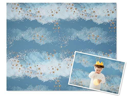 WaW 2.2x1.5m katoen fotografie achtergrond 1. verjaardag blauw ballon party foto achtergrond