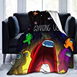 Ultra-Soft Among Us Blanket Christmas Throw Blanket Micro Flannel Fleece Couch Quilted Blankets A (Among Us1, 50 x60Inch)