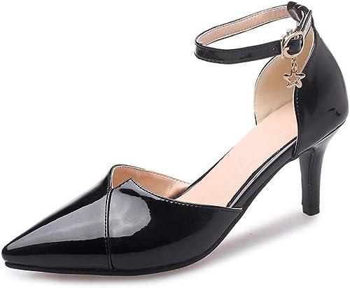 mujerzapatos zapatos de mujer, Cabeza de Punta Casual con Hebillas Hollow Sandalias Sandalias cómodas mujeres,C,42