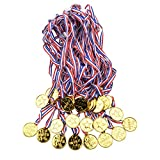 Onepine 48 Pièces Médailles Enfants Or en Plastique Medaille pour Concours de Campus,Fête