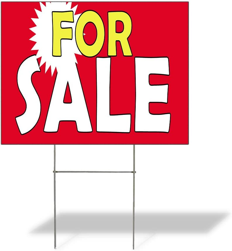 Fastasticdeals Weatherproof Yard Sign for Outdoor Sale Award Max 45% OFF Advertisi