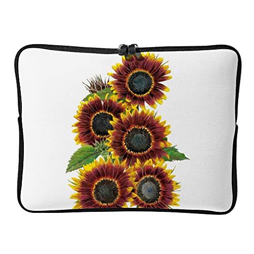Sunflower Laptop Case Bag Waterproof Lightweight Basics 10-17 Zoll for Men Women White 13 Zoll