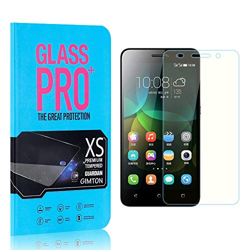 GIMTON Displayschutzfolie für Huawei Honor 4C, 9H Härte HD Schutzfolie aus Gehärtetem Glas für Huawei Honor 4C, Blasenfrei, Anti Fingerabdruck, 4 Stück