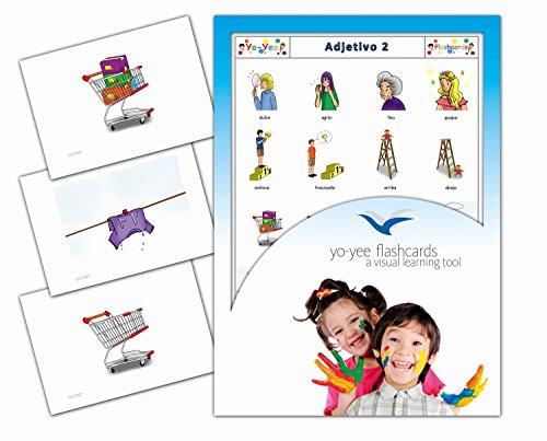 Tarjetas con ilustraciones en español - Adjetivo 2 - a modo de juego, amplían el vocabulario básico, la construcción de frases y la gramática: para guarderías, escuelas de primaria o logopedia