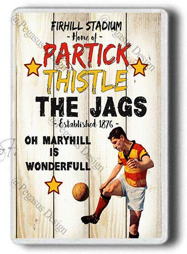 Partick Thistle Magnet!,The Jags-Firhill Stadium,Oh Maryhill,1876,JUMBO Magnet