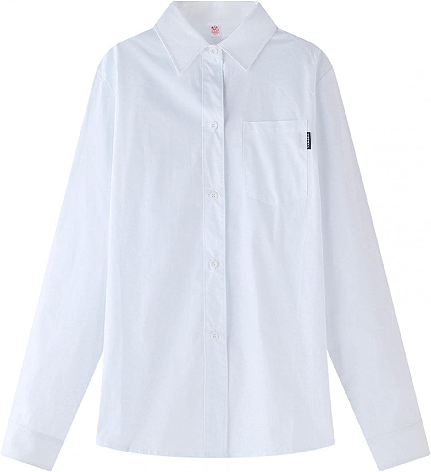 Forver Little Kids Formal Blouse Button White Shirts Tops Children Kids Youth Girls Boys Back to School Suit Formal Wear