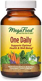 MegaFood, One Daily, Supports Optimal Health and Wellbeing, Multivitamin and Mineral Supplement, Gluten Free, Vegetarian, ...