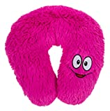 Childs/Kids Pink Happy Face Soft Plush Travel Neck Pillow/Cushion