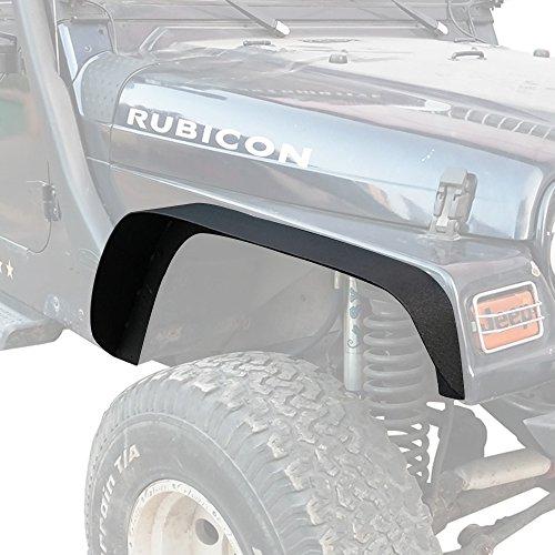 Hooke Road Wrangler TJ Steel Fender Flares Front & Rear Mud Guards Compatible with Jeep Wrangler TJ 1997-2006 - Set
