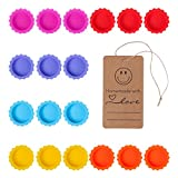 Beer Saver Silicone Rubber Bottle Caps (Pack of 18), Ideal for Home Brewing Beer, Soft Drink,Soda Bottle Kitchen Gadgets, Multicolor, with Homemade Tag