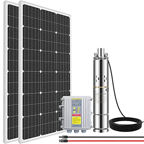 ECO HOUSE 200W Solar Well Pump Kit, 140W 3