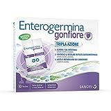 Enterogermina Gonfiore Integratore alimentare contro il gonfiore addominale, 10 bustine da 2+2 g, senza lattosio e senza glutine