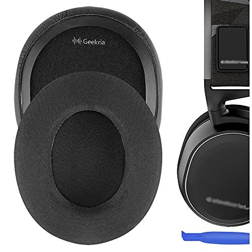 Geekria Cooling Gel-Infused Cloth Oreillettes de Remplacement pour Casque SteelSeries Arctis 3 Arctis 5 Arctis 7 Arctis 9X Arctis Pro Headphone, Coussinets d'oreille Coussins