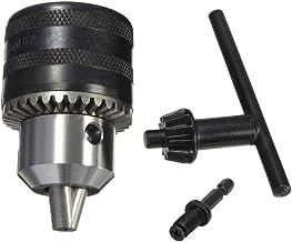 Bestgle Portabrocas de 1.5-13mm con Taladro eléctrico y Llave para Taladro Cónico y Conexión Hexagonal sin Llave Pequeña Para torno, Taladro Eléctrico