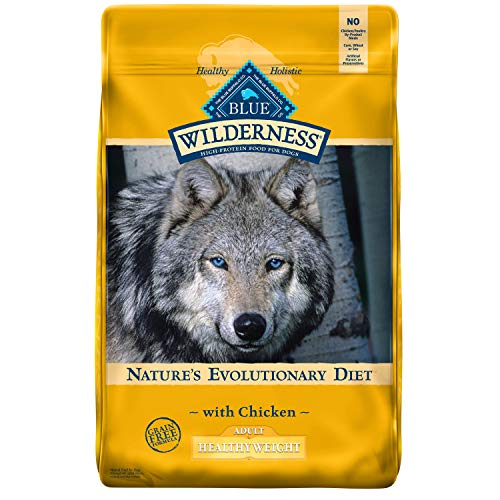 Blue Buffalo Wilderness High Protein, Natural Adult Healthy Weight Dry Dog Food, Chicken 24-lb