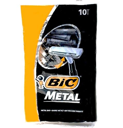 Bic Maquinillas de afeitar desechables de metal, 10 unidades x 3 paque