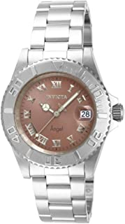 Invicta Women's Angel Quartz Watch with Stainless Steel Strap, Silver, 20 (Model: 14362)