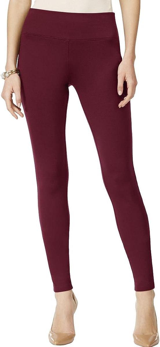 INC Womens Ponte Skinny Casual Pants Purple 4
