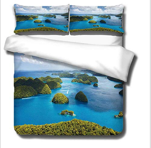 GSYHZL bedding king size duvet set,3D king bed bedding set, male and female bedroom apartment duvet cover and pillowcase-E_200*240cm(3pcs)