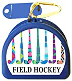 Zumoe Field Hockey Mouthguard Retainer Case - 7 Standing Sticks - Blue