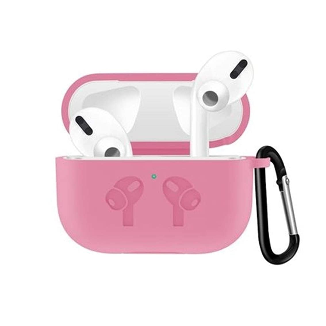 追い出す知事取り囲む8HAOWENJU AirPodspro保護カバーairpods3ワイヤレスBluetoothヘッドセットのセット液状シリコーンソフトシェル超薄型ビジネスシンプルな保護シェルの三の世代への適用 (Color : Pink)