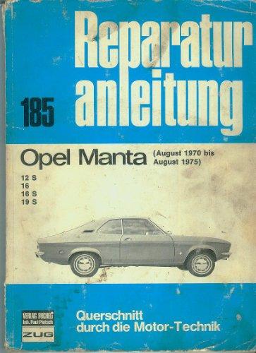 Opel Manta A Reparaturanleitung Bucheli Nr. 185