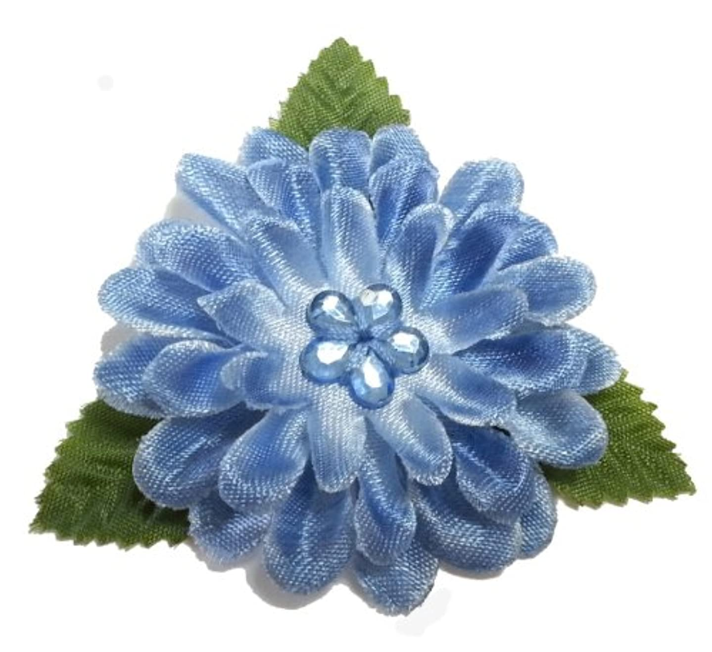 Cuteque International 2-1/4-Inch 12-Piece Chrysanthemum Scrapbooking Embellishments, Small, Antique Blue