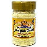 Rani Fenugreek (Methi) Seeds Ground Powder 3oz (85g) Trigonella foenum graecum | Gluten Friendly | Non-GMO (used in cooking &Ayurvedic spice)