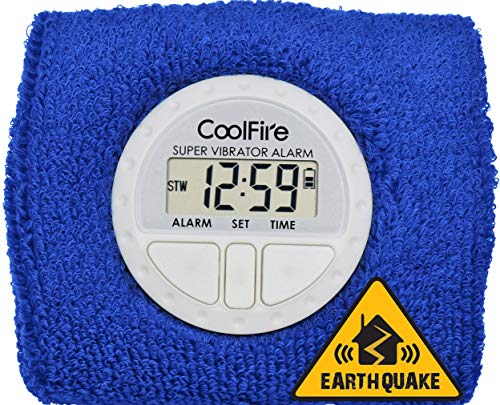 Coolfire Boom Vibrating Alarm Clock - Sweat Band Digital Alarm Watch with USB Charging Port - Smart Alarm Clock for Wrist 1685D