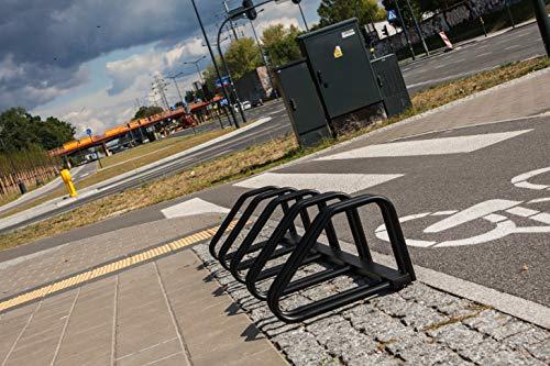 Rekord Aparcabicicletas para 5 Bicicletas, de Acero zincado con Posibilidad de fijación al Suelo o a la Pared