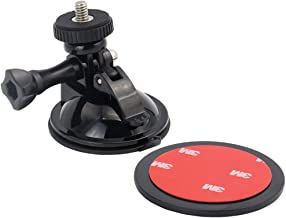 EXSHOW Mini Suction Cup Mount with 3M Adhesive Pad,Car Dashboard Camera Holder for GoPro Hero 7 6 4 5 3+ 3 2 1 and Cameras