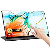 4K Touchscreen Portable Monitor, UPERFECT 15,6 Zoll Tragbarer USB C Gaming Monitor 3840x2160 UHD...