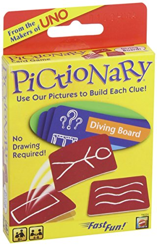 Pictionary Card Game (2013 Refresh) - Juego de Preguntas, 2 o más Jugadores (Mattel MATY3366) (versión en inglés)