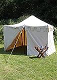 Tente de chevalier Herold 3 x 3 m M rouge/bleu