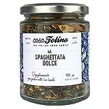 Spaghettata aglio, olio e peperoncino dolce 90 g in vasetto di vetro Riutilizzabile e Riciclabile. Ideale per ogni tipo di preparazione. Made in Italy - Spezie Casafolino - Preparato per pasta.