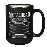 Daily Nutritionist Facts Coffee Mug - Present Ideas For Metalhead Novelty Cup Sarcasm Gag Meme Diet Dietitian Psychologist (15Oz, Black)