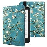 Fintie Case for Kobo Clara HD - Slim Fit Premium Vegan Leather Folio Cover with Auto Sleep/Wake for Kobo Clara HD 6' eReader, Blossom