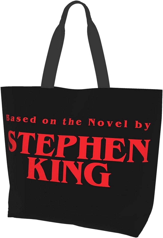 Stephen King Womens Canvas Picnic Handbag Casual Tote