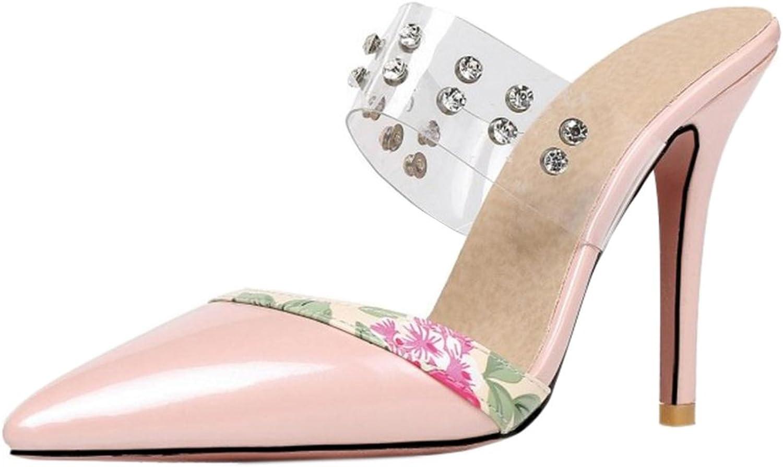 FANIMILA Women Stiletto Sandals shoes Pointy Mules