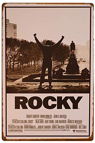 Hunnry Rocky Poster Póster De Pared Metal Vintage Placa Cartel Decorativas Estaño Signo Vendimia Plaque por Bar Café Hogar Restaurante Dormitorio