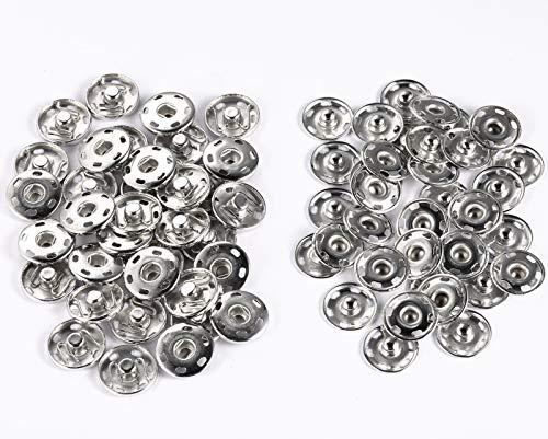 35Kit di Bottoni Automatici in Pelle, Bottoni Automatici in Metallo per Vestiti, Giacche, Jeans, Braccialetti, Borse19mm