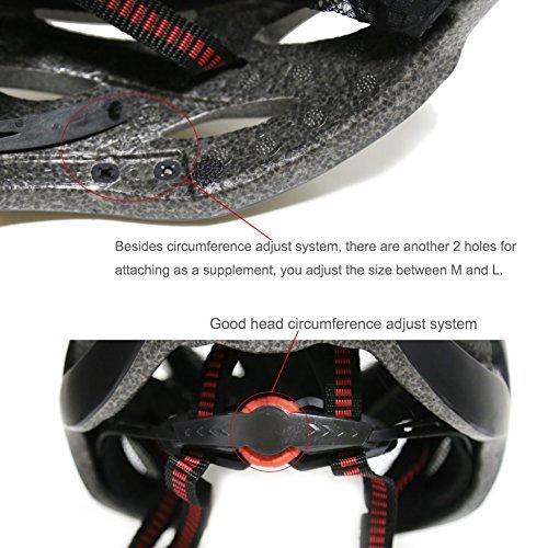 Shinmax Specialized Bike Helm mit Sicherheitslicht, Verstellbare Sport Fahrradhelm Fahrrad Fahrradhelme für Road & Mountain Biking, Motorrad für Erwachsene Männer und Frauen, Jugend – Racing, Sicherheit Schutz (Blau) - 4