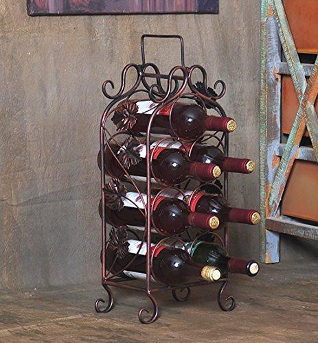 JT Wijnrek Wijnrek/7 Fles Wijnrek, Wijnflessenhouder Gratis Staande Wijnrek, Dikke Staaldraad, Strijkijzer, Bekerhouder