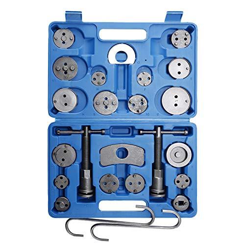 FreeTec 22 TLG. Juego Universal de reposicionador de pistones de Freno, pistón de Freno, Juego de Herramientas de reparación con Pinzas de Freno