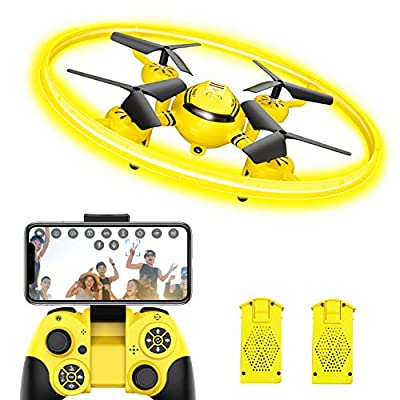 Q8 FPV Drone with Camera for Kids Adults,RC Helicopter with LED Light and Altitude Hold,Quadcopter with Gravity Control and Headless Mode,Kids Toys for Boys Girls from Avialogic