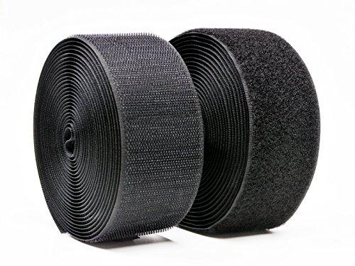 Konger Klettband Schwarz 20cm