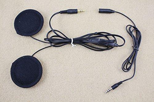 IPOTCH Auriculares Casco de Motocicleta Altavoces Estéreo MP3 CD XM RADIO Conector de 3,5 Mm Universal